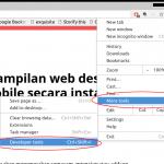 ubah tampilan web desktop jadi mobile secara instan